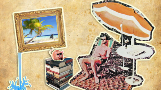 Ferienzeit ist Schmökerzeit. Illustration: Cora-Mae Gregorschewski