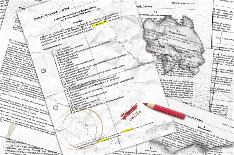 Jetzt ist amtlich: Die Rahmenstudien- und Prüfungsordnung kommt! Illustration: Cora-Mae Gregorschewski