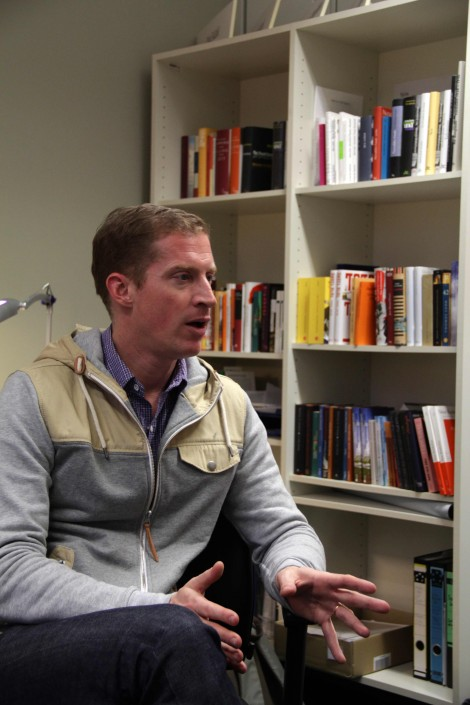 Andrew Sean Greer explains his experiences about wirting. Photo: Christopher Hirsch
