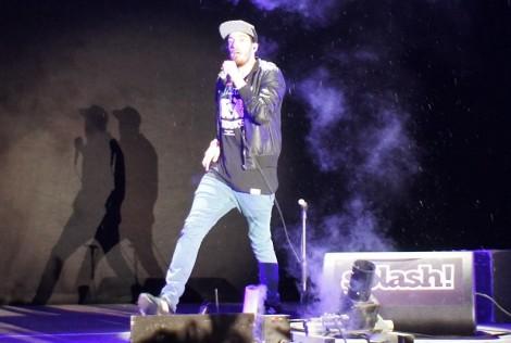 """Festival-Headliner Casper während seines Auftrittes beim """"Splash"""". Foto: Marc Rutkowski"""