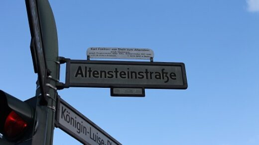 Die Altensteinstraße verbindet die Habelschwerdter Allee mit dem Königin-Luise-Platz und führt am Botanischen Garten vorbei. Foto: Bente Staack