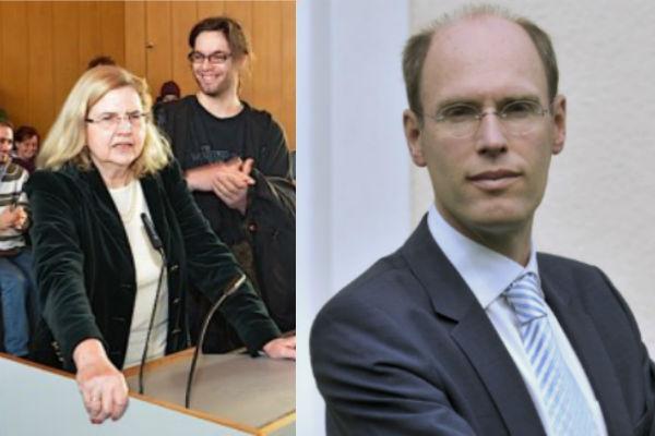 Die bisherige Vizepräsidentin Monika Schäfer-Korting und FU-Präsident Peter-André Alt. Foto: Archiv (FURIOS-Montage)