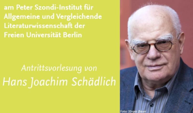 Hanns-Joachim Schädlich hielt seine Antrittsvorlesung. Quelle: FU Berlin