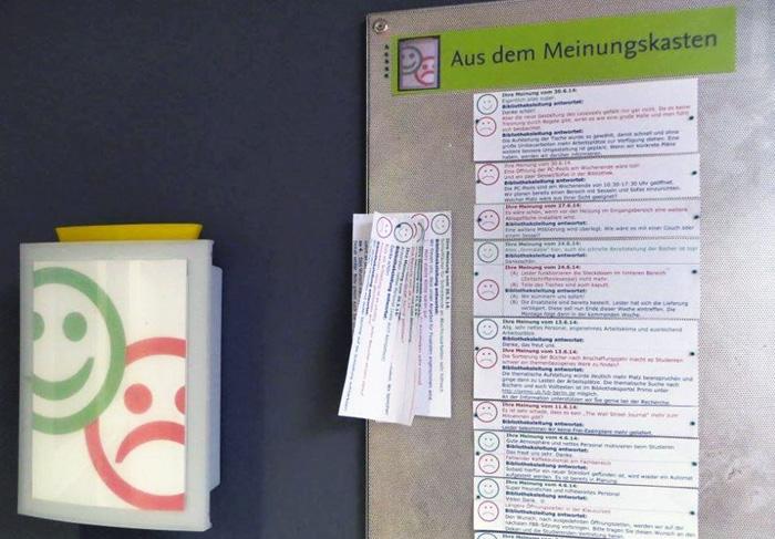 Die Rückmeldungen der Studierenden werden immer beantwortet. Foto: Wirtschaftswissenschaftliche Bibliothek