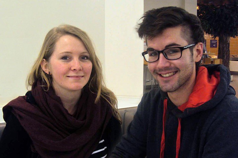 Theresa und Simon wollen mit La:iz ins Stupa einziehen. Foto: Francis Laugstien