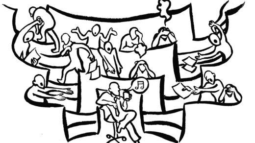 Die Prüfungssituation ist für alle Studierenden stressig. Illustration:David Stach