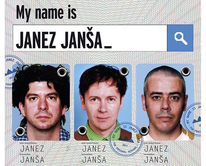 Die drei Janez Janšas treten öffentlich nur noch gemeinsam auf. Foto: www.mynameisjanezjansa.com