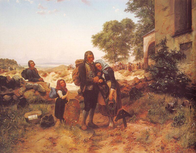 Wanderungsbewegungen hat es zu jedem Zeitpunkt der Geschichte gegeben. Bild: Carl Wilhelm Hübner
