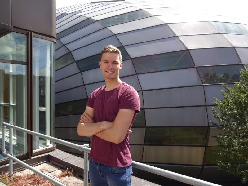 Neben dem Rudern studiert Johannes Lotz Psychologie an der FU. Foto: Karolin Tockhorn