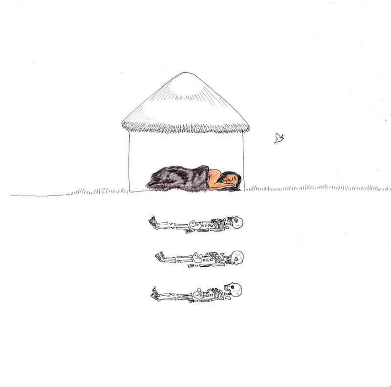 Im Neolithikum bleiben die Toten mit im Haus. Foto: Manon Scharstein