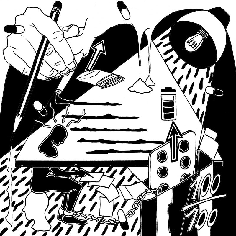 Drogen wie Ritalin können die Konzentration erhöhen - bergen aber auch gefährliche Risiken. Illustration: Eugènia López Duran