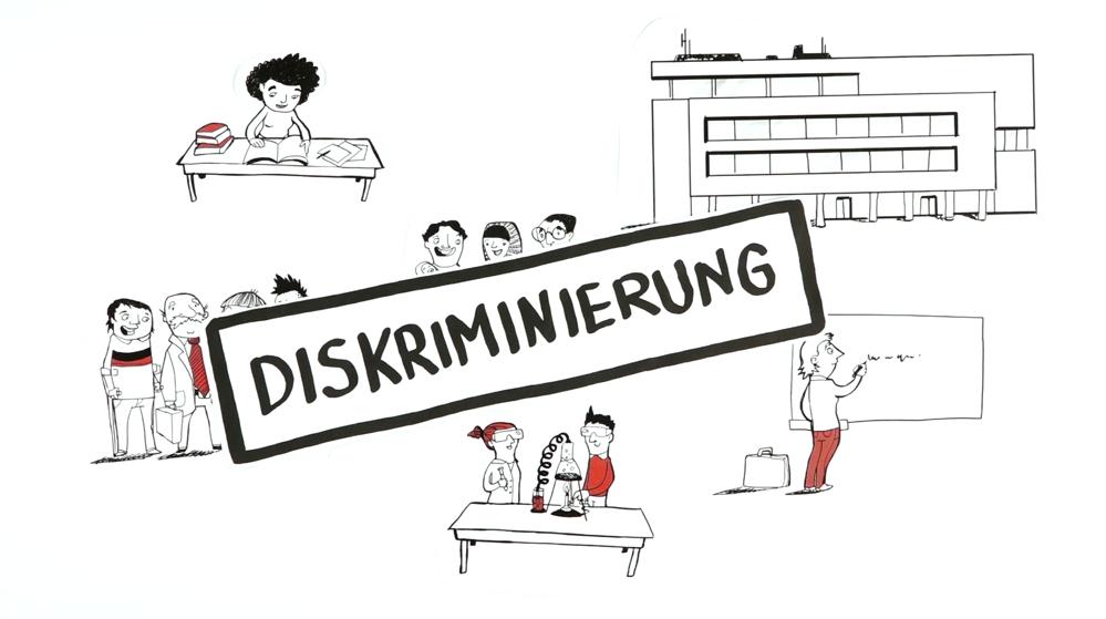 Wie lässt sich Diskriminierung - auch im Hochschulalltag - vermeiden? (© 2017 Pudelskern GbR)