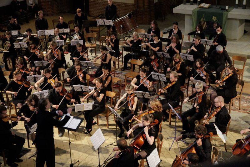 Das Junge Orchester in Aktion. Bild: Johannes Bense