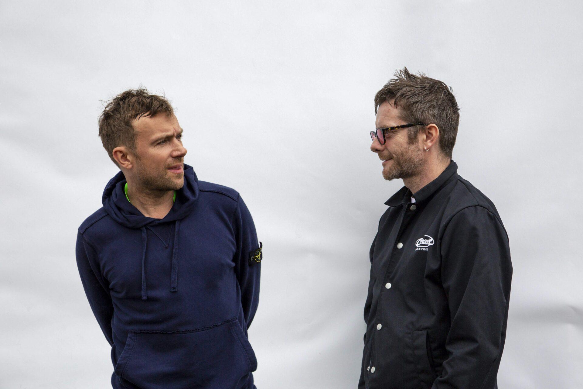 Damon Albarn und Jamie Hewlett (Gorillaz)
